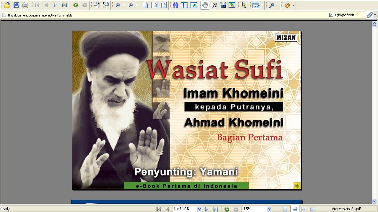 Grand Ayatollah Khomeini (1900-1989) - political & spiritual leader of Iran Wasiat_sufi